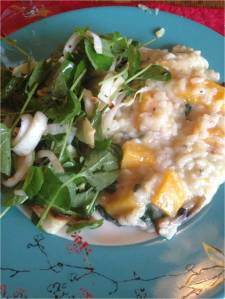 Risotto and Salad A Perfect Family Meal